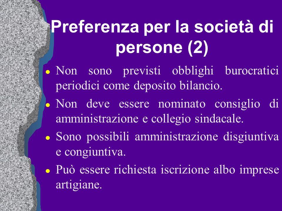Preferenza per la società di persone (2)