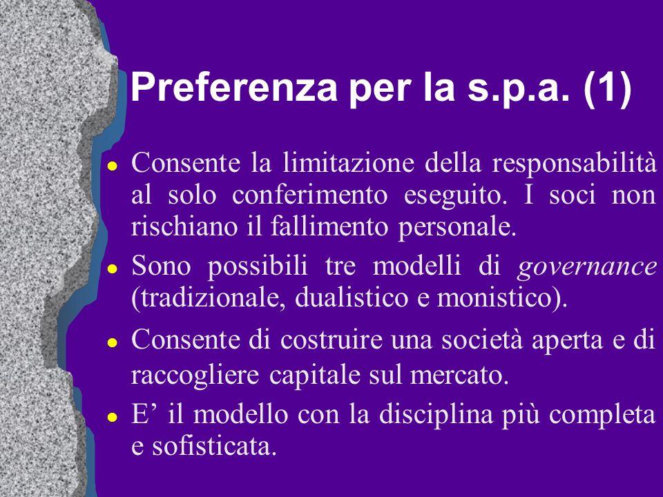 Preferenza per la s.p.a. (1)