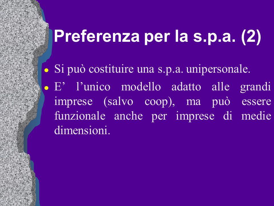 Preferenza per la s.p.a. (2)