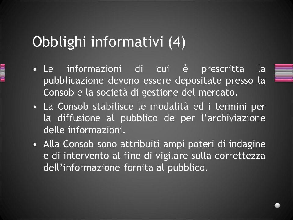 Obblighi informativi (4)