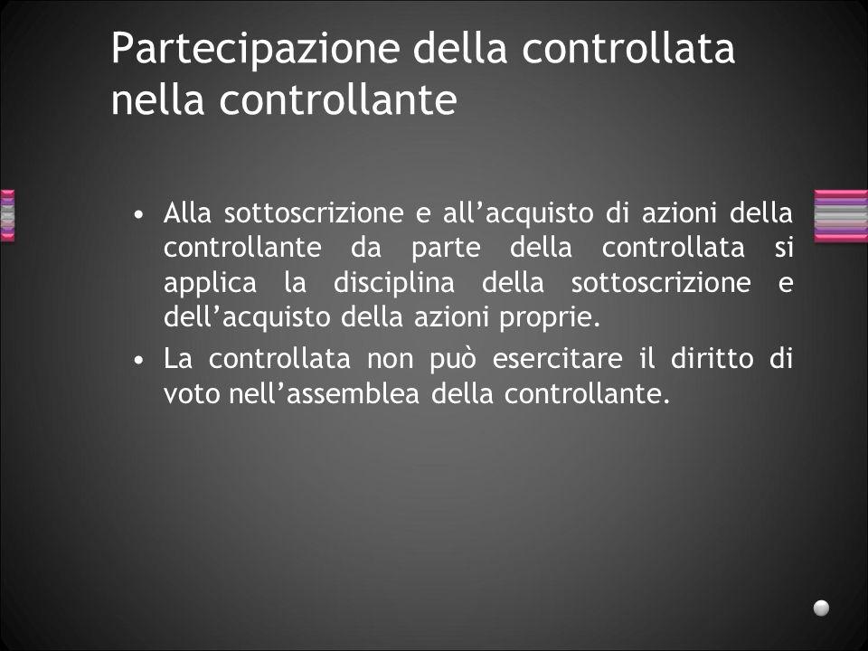 Partecipazione della controllata nella controllante