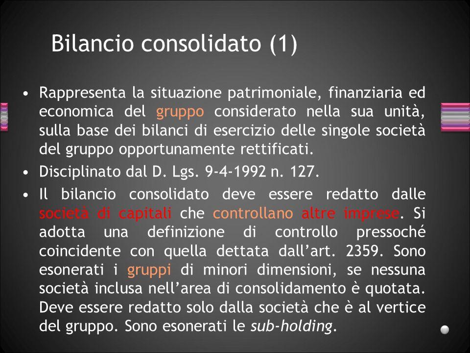 Bilancio consolidato (1)