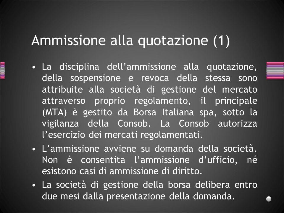Ammissione alla quotazione (1)