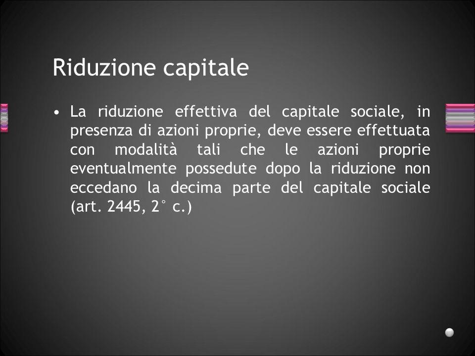Riduzione capitale