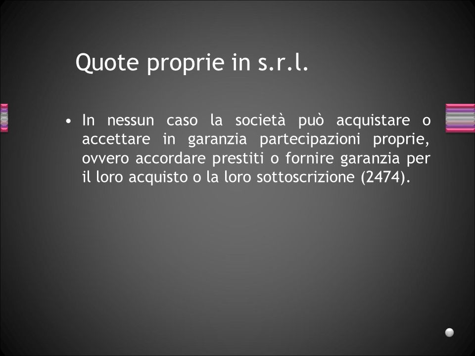 Quote proprie in s.r.l.