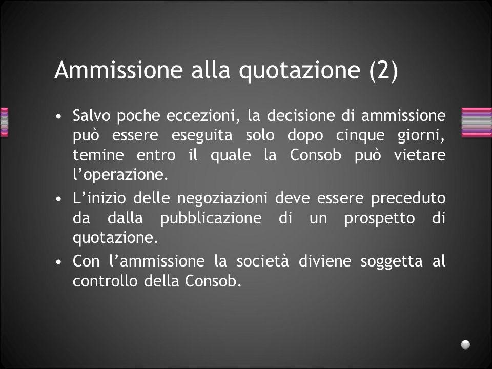 Ammissione alla quotazione (2)