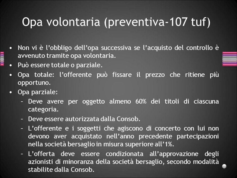 Opa volontaria (preventiva-107 tuf)