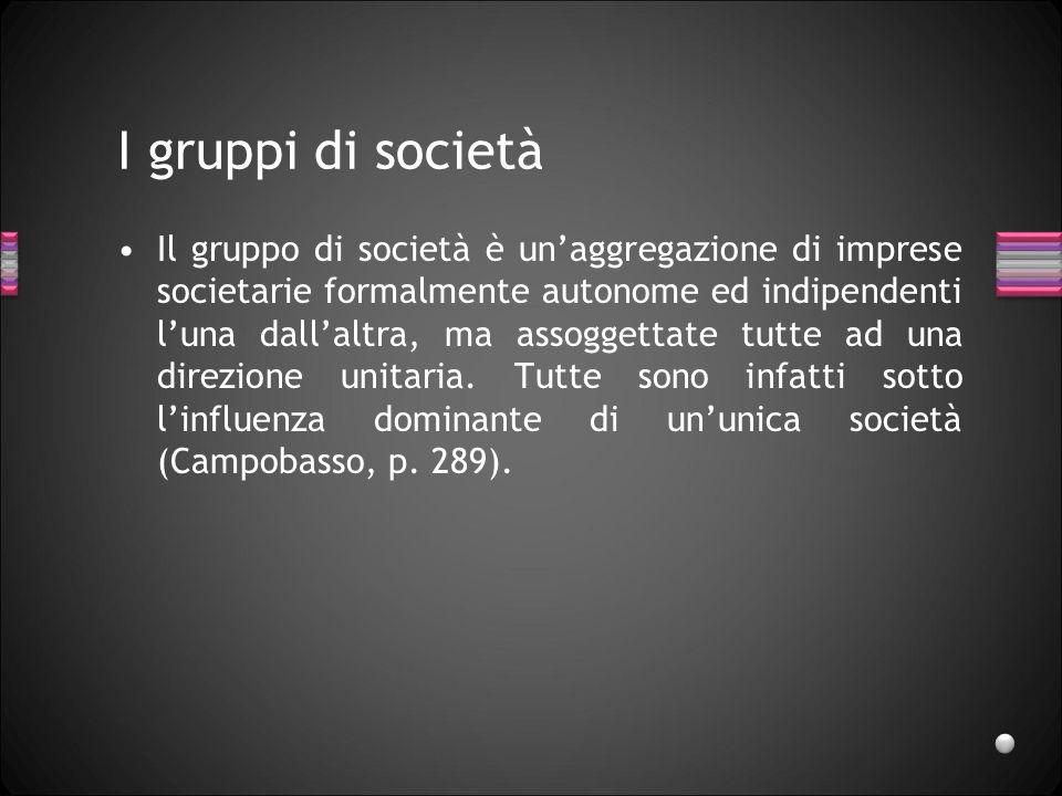 I gruppi di società