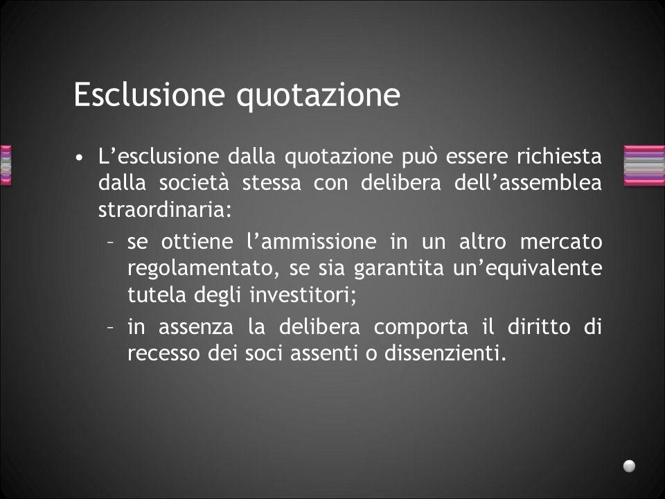Esclusione quotazione