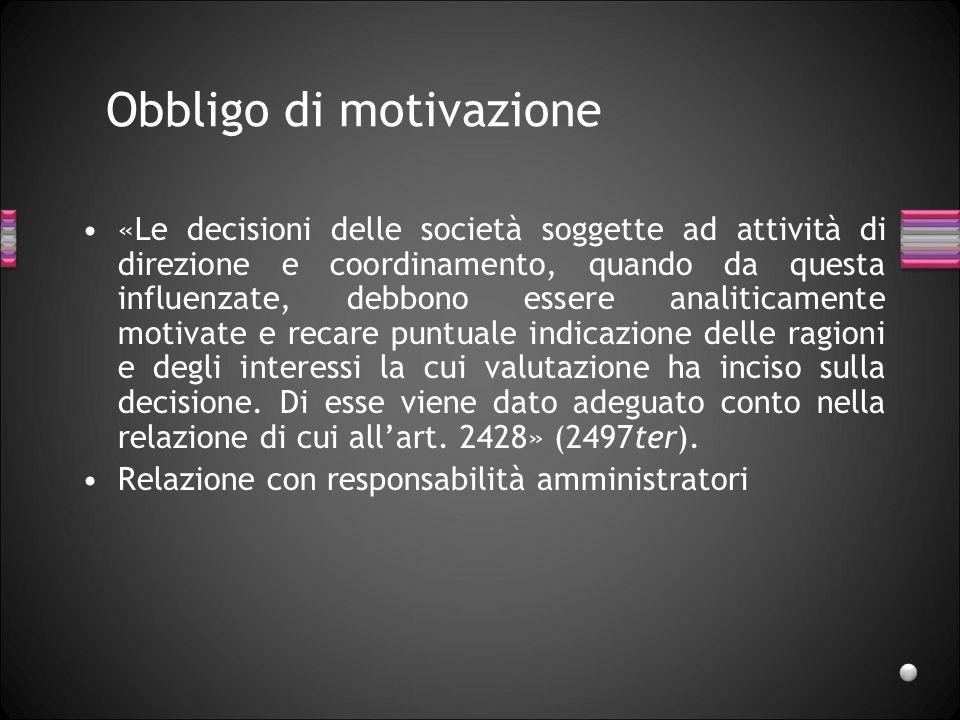 Obbligo di motivazione