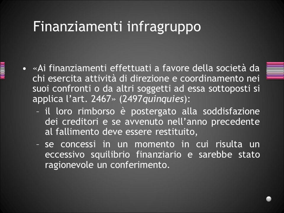Finanziamenti infragruppo