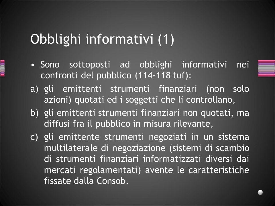 Obblighi informativi (1)