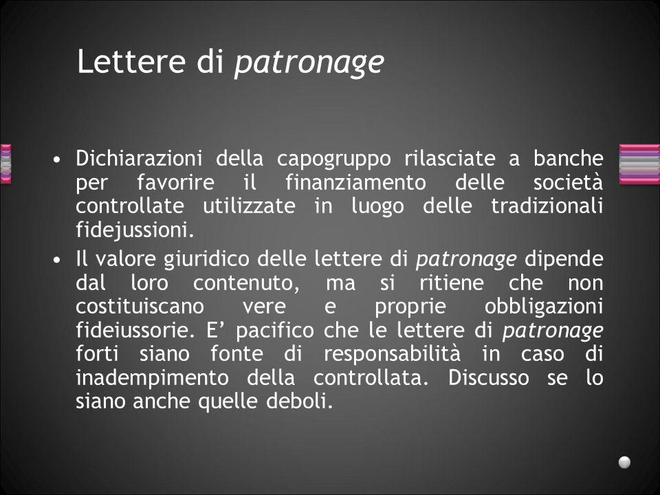 Lettere di patronage