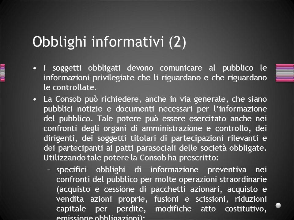 Obblighi informativi (2)