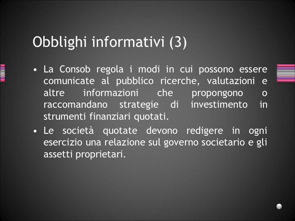 Obblighi informativi (3)
