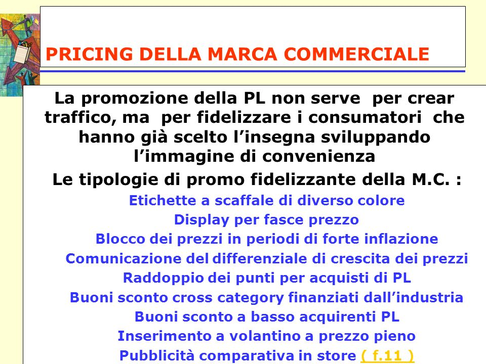 PRICING DELLA MARCA COMMERCIALE