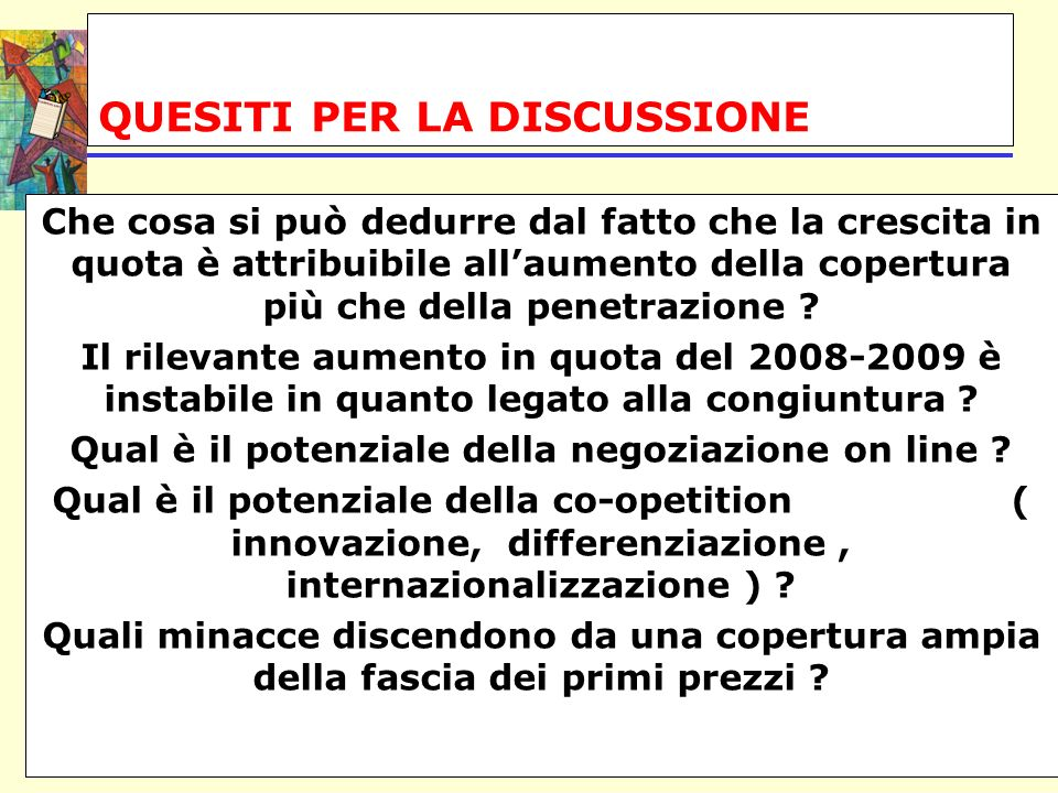 QUESITI PER LA DISCUSSIONE