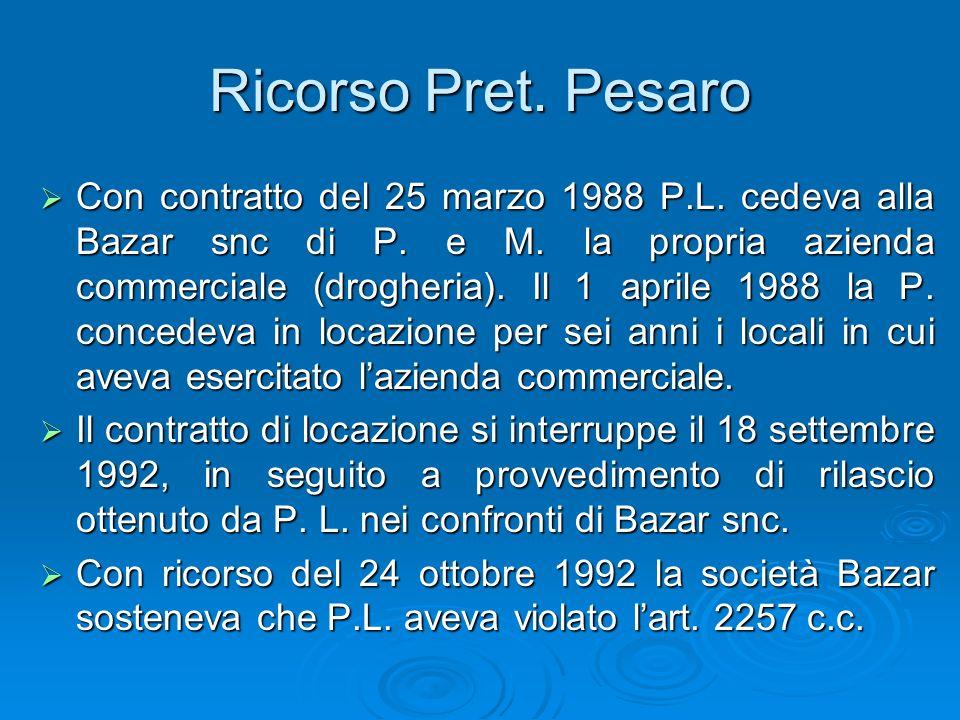 Ricorso Pret. Pesaro