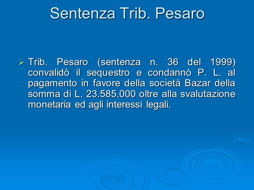 Sentenza Trib. Pesaro