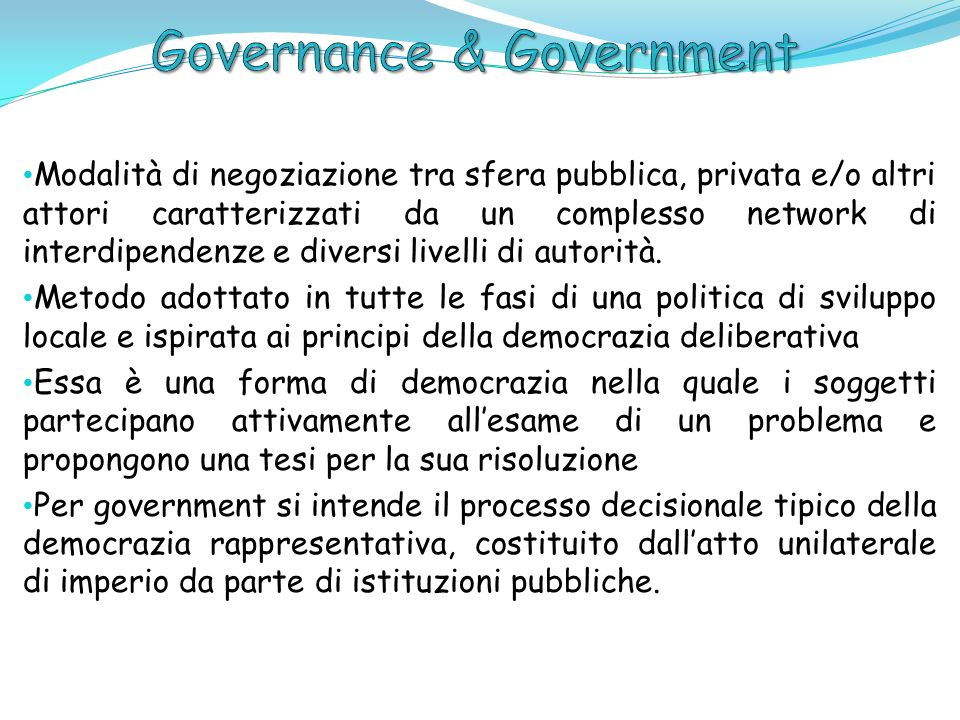 Governance & Government