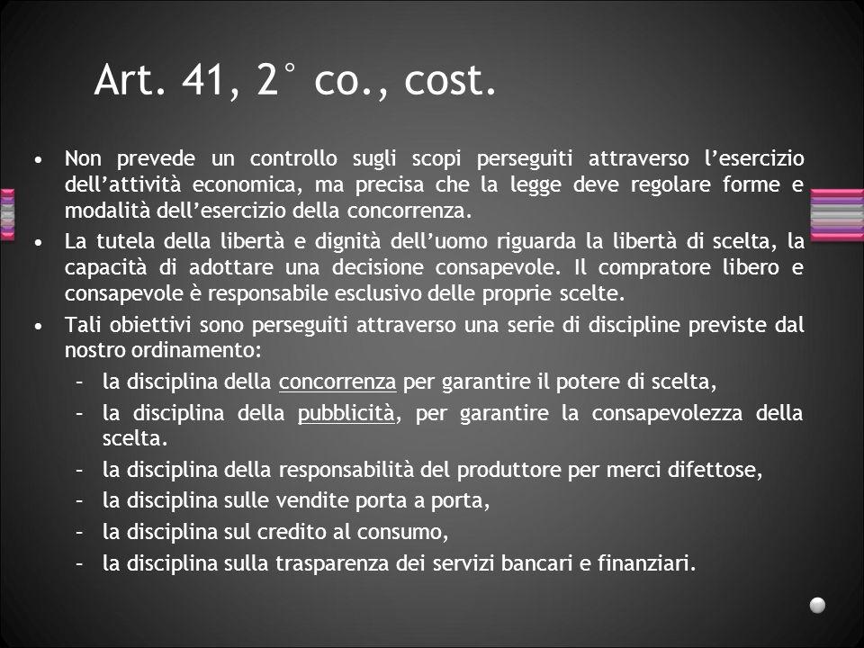 Art. 41, 2° co., cost.