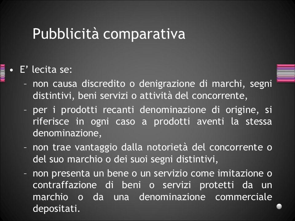 Pubblicità comparativa