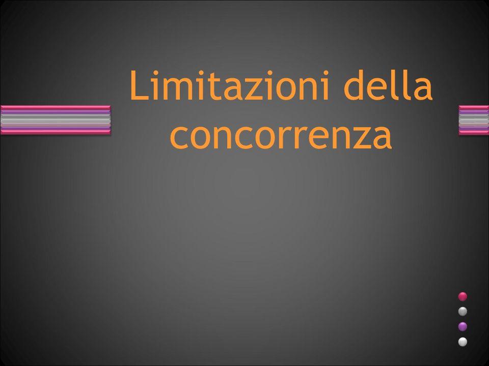 Limitazioni della concorrenza