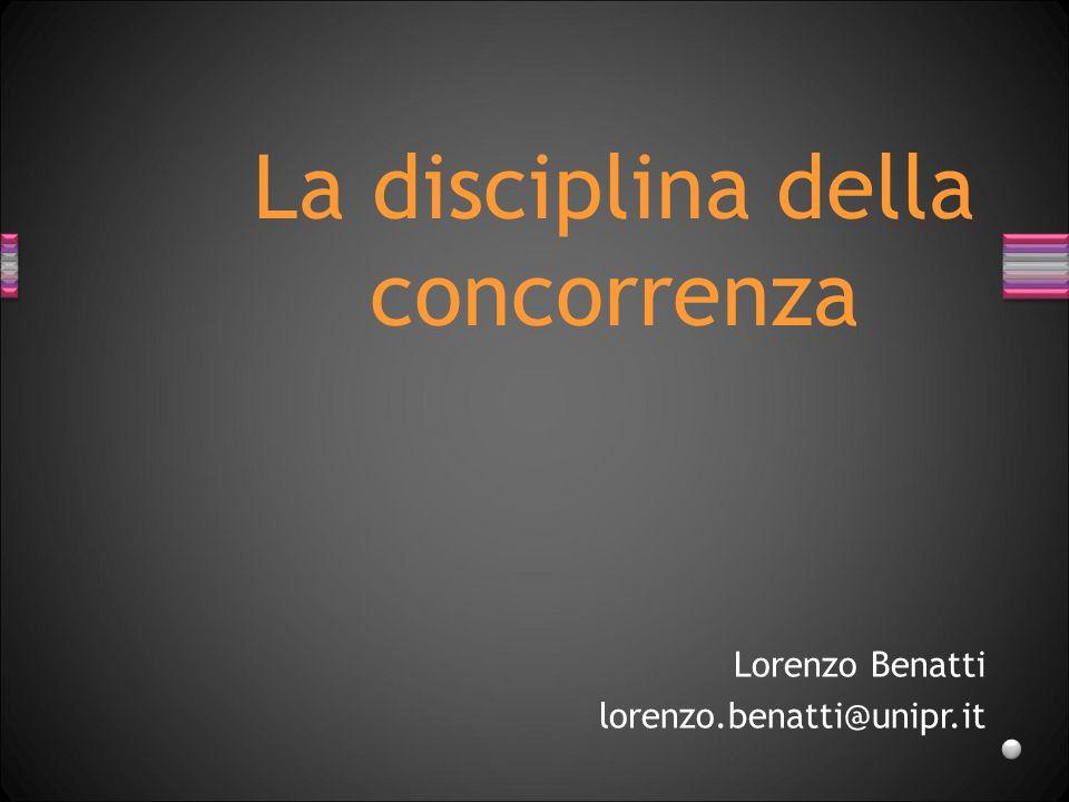 La disciplina della concorrenza