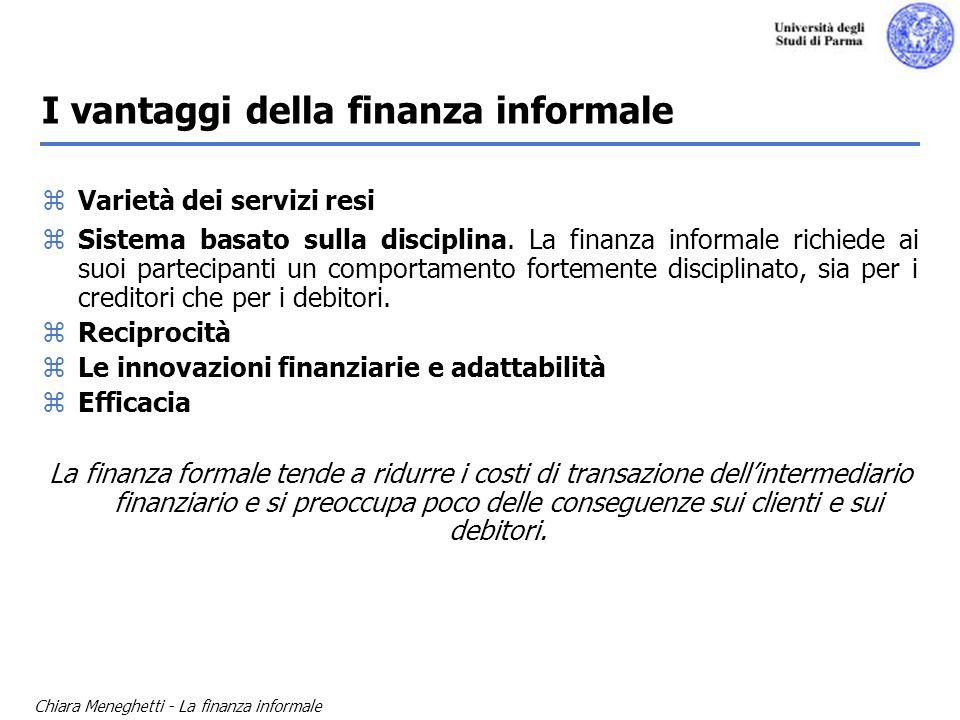 I vantaggi della finanza informale