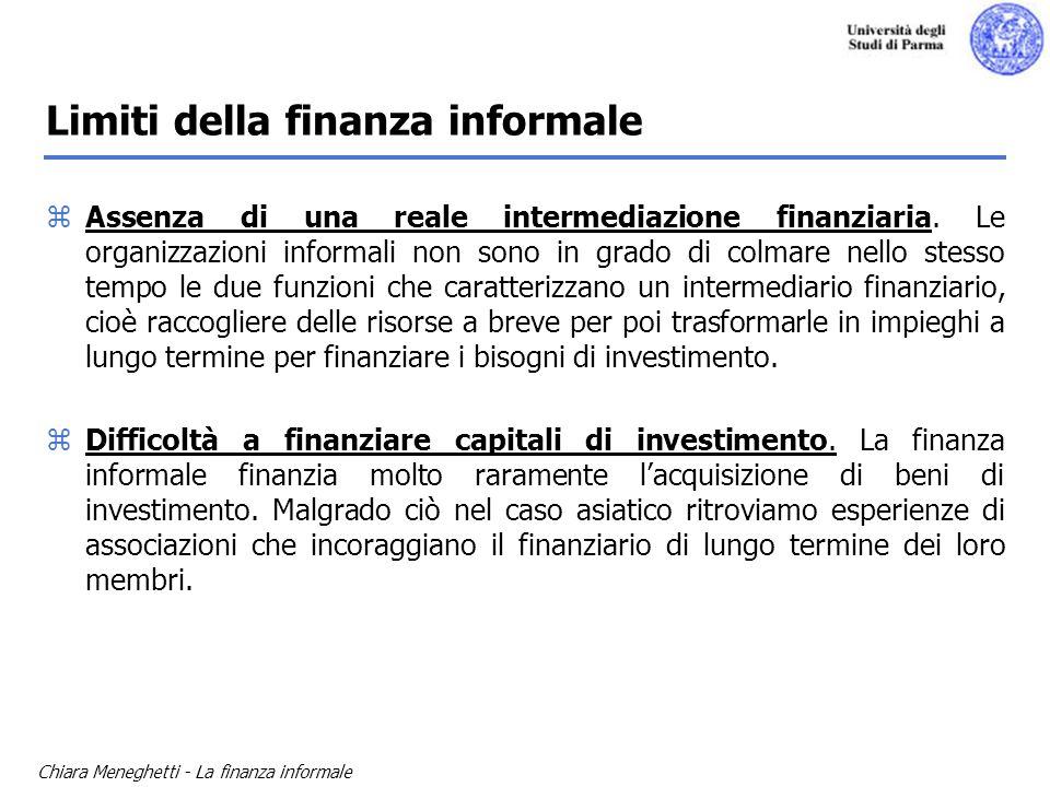 Limiti della finanza informale