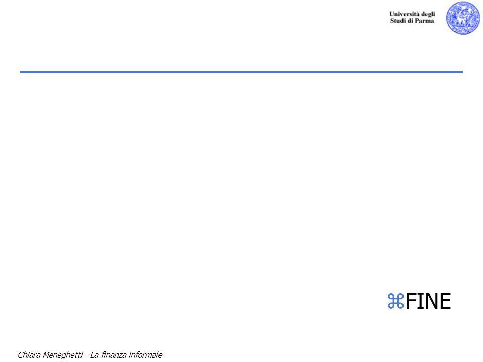 FINE Chiara Meneghetti - La finanza informale