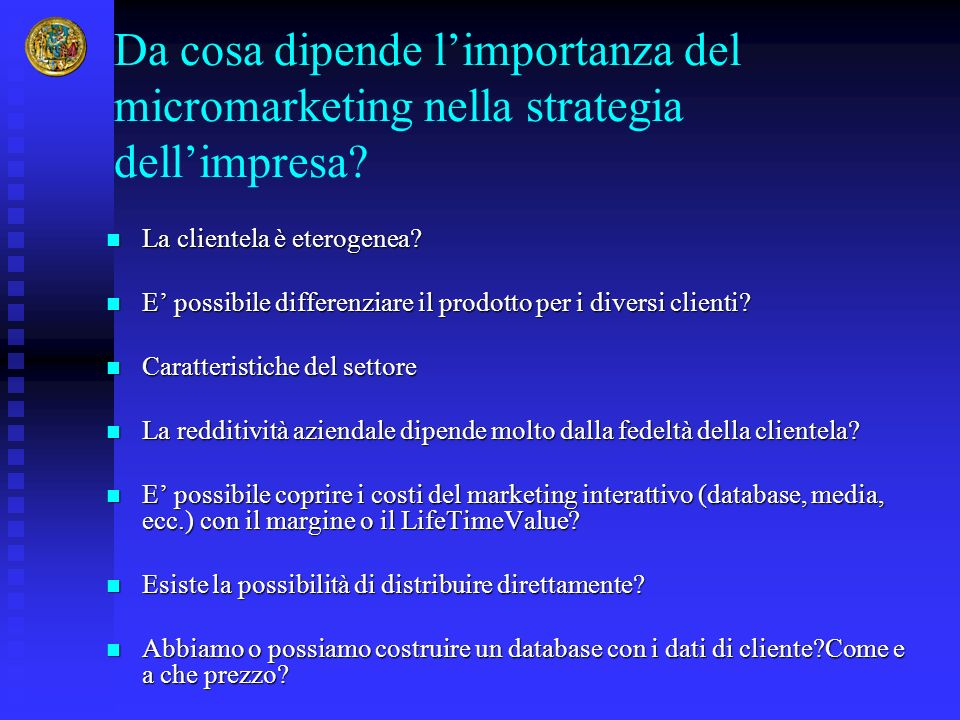 Da cosa dipende l'importanza del micromarketing nella strategia dell'impresa