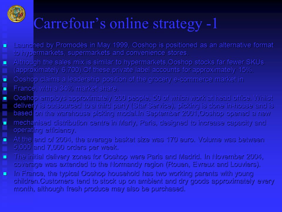Carrefour's online strategy -1