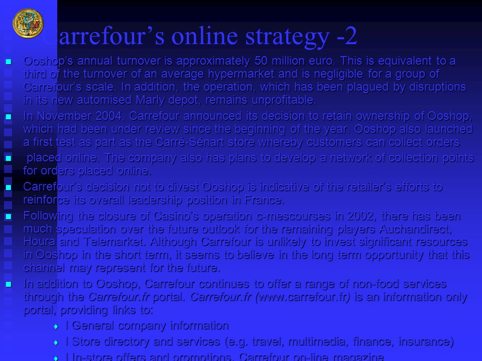 Carrefour's online strategy -2