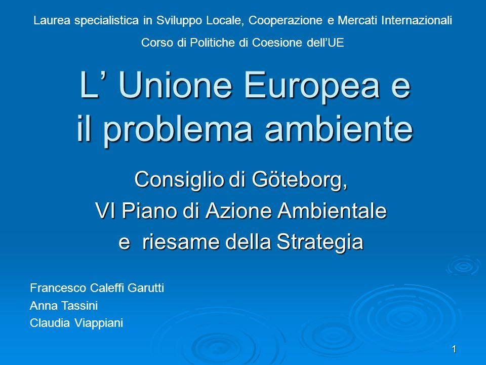 L' Unione Europea e il problema ambiente