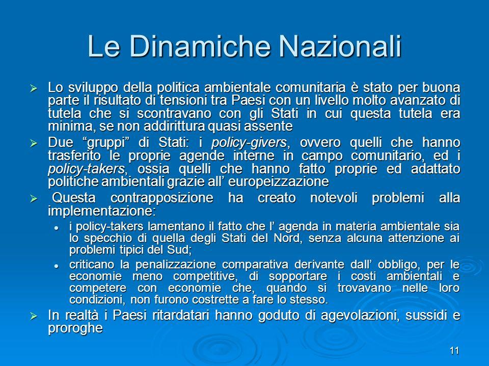 Le Dinamiche Nazionali