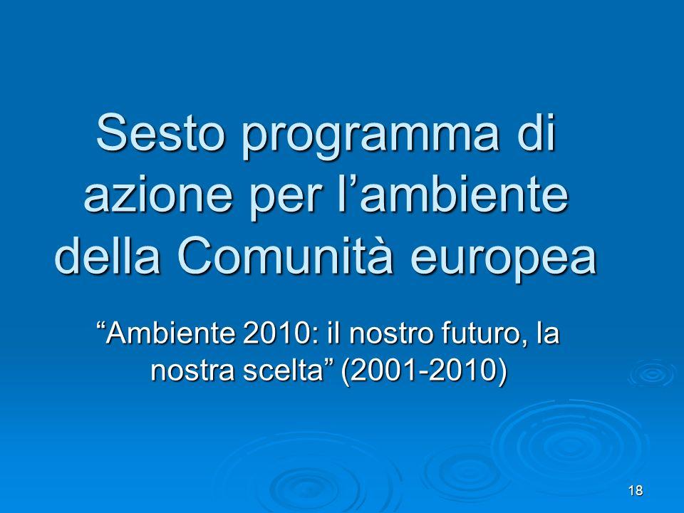 Sesto programma di azione per l'ambiente della Comunità europea