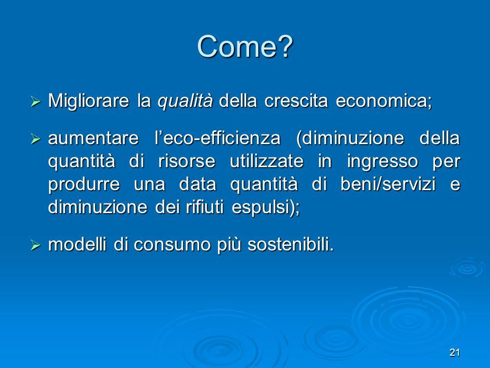 Come Migliorare la qualità della crescita economica;