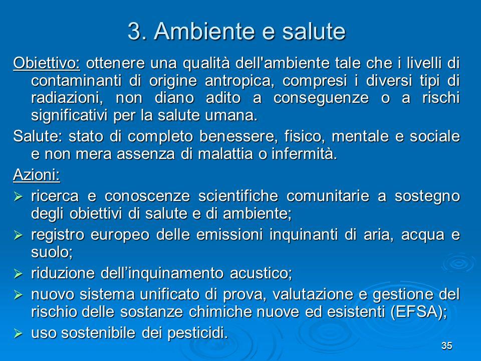 3. Ambiente e salute