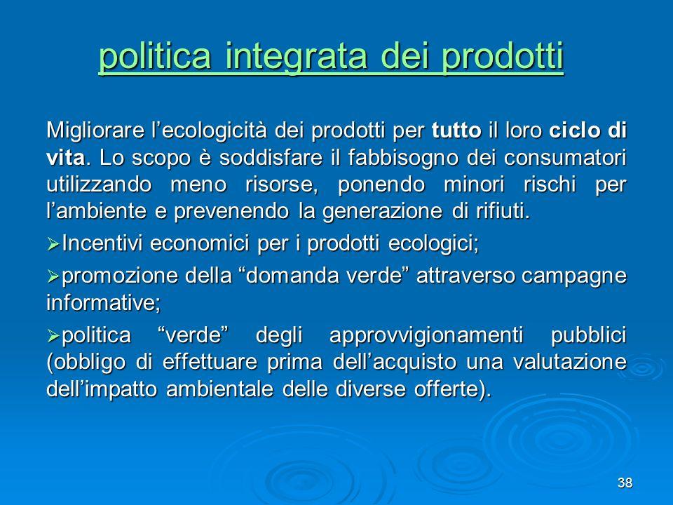 politica integrata dei prodotti