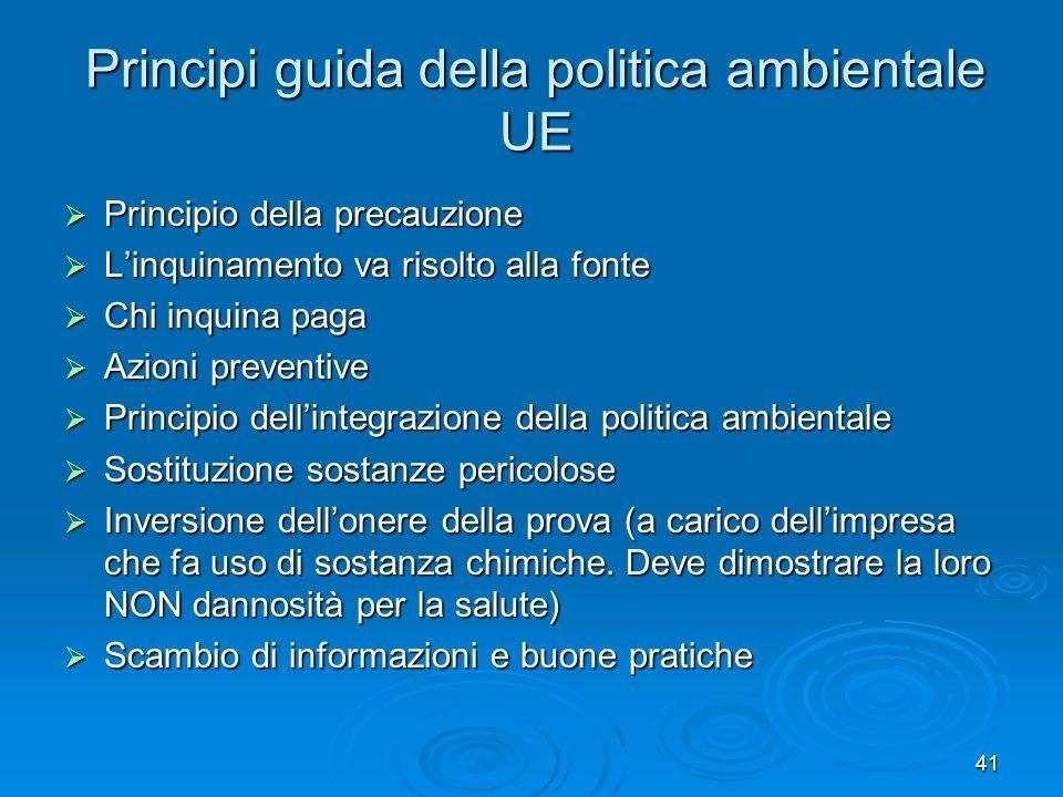 Principi guida della politica ambientale UE