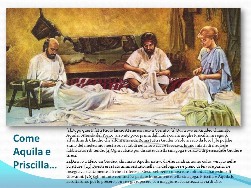 Come Aquila e Priscilla…