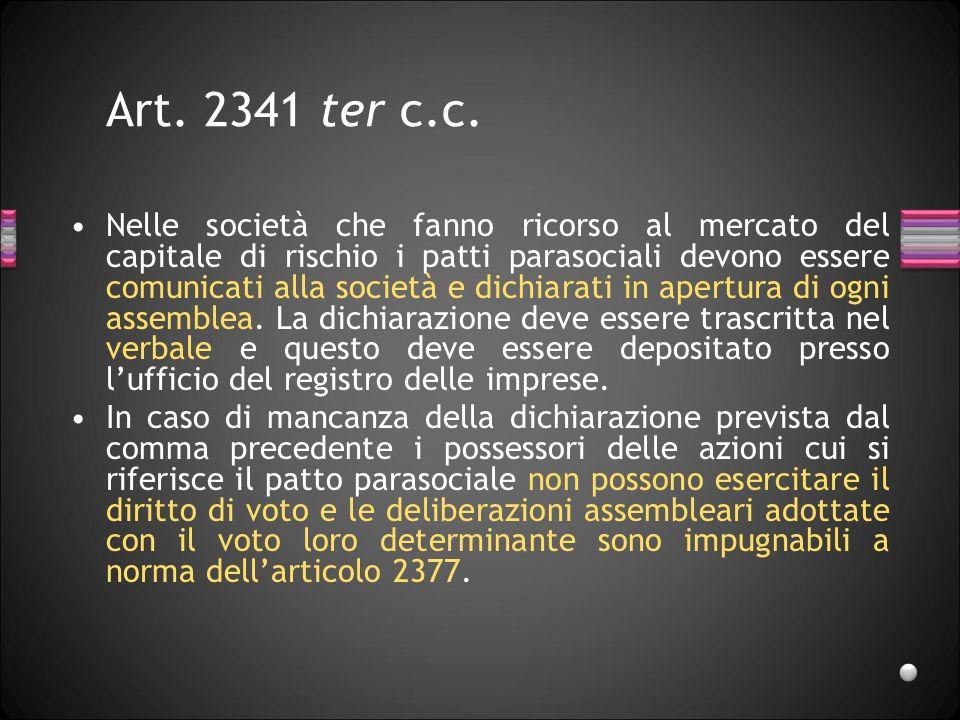Art. 2341 ter c.c.