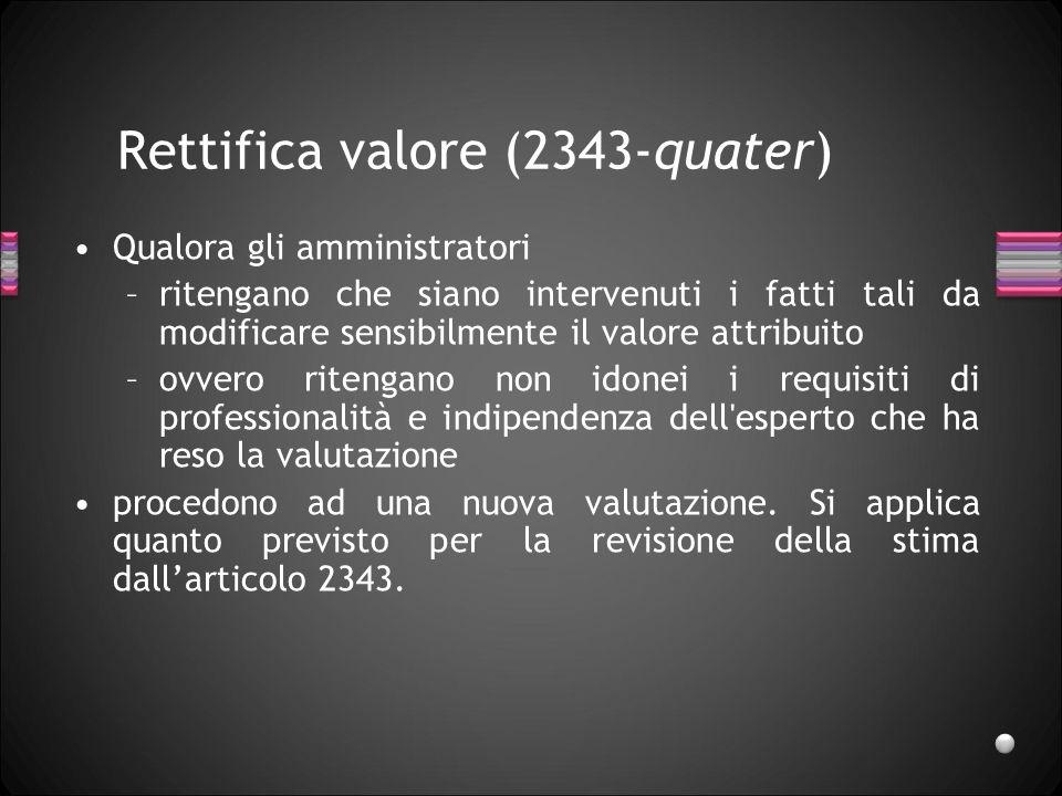 Rettifica valore (2343-quater)