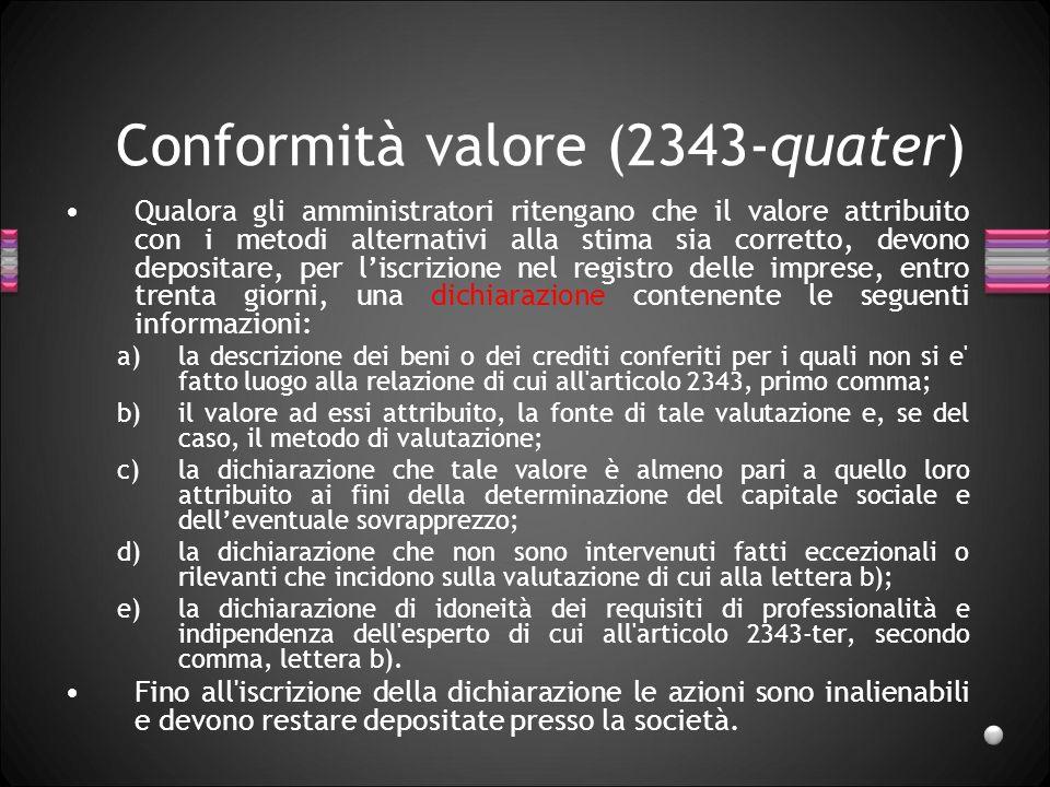 Conformità valore (2343-quater)