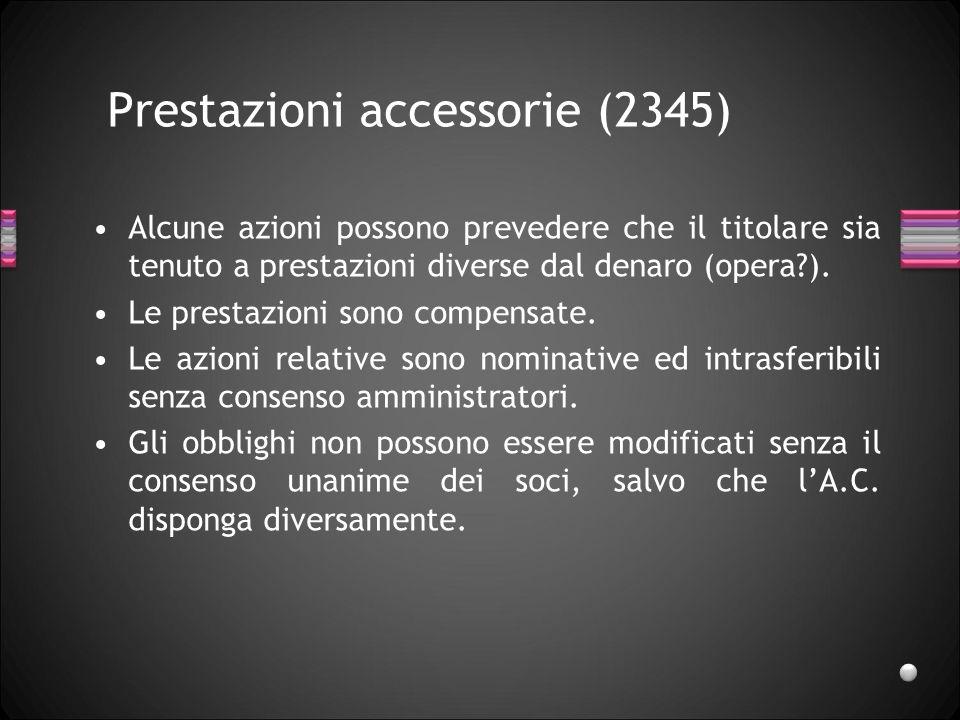 Prestazioni accessorie (2345)
