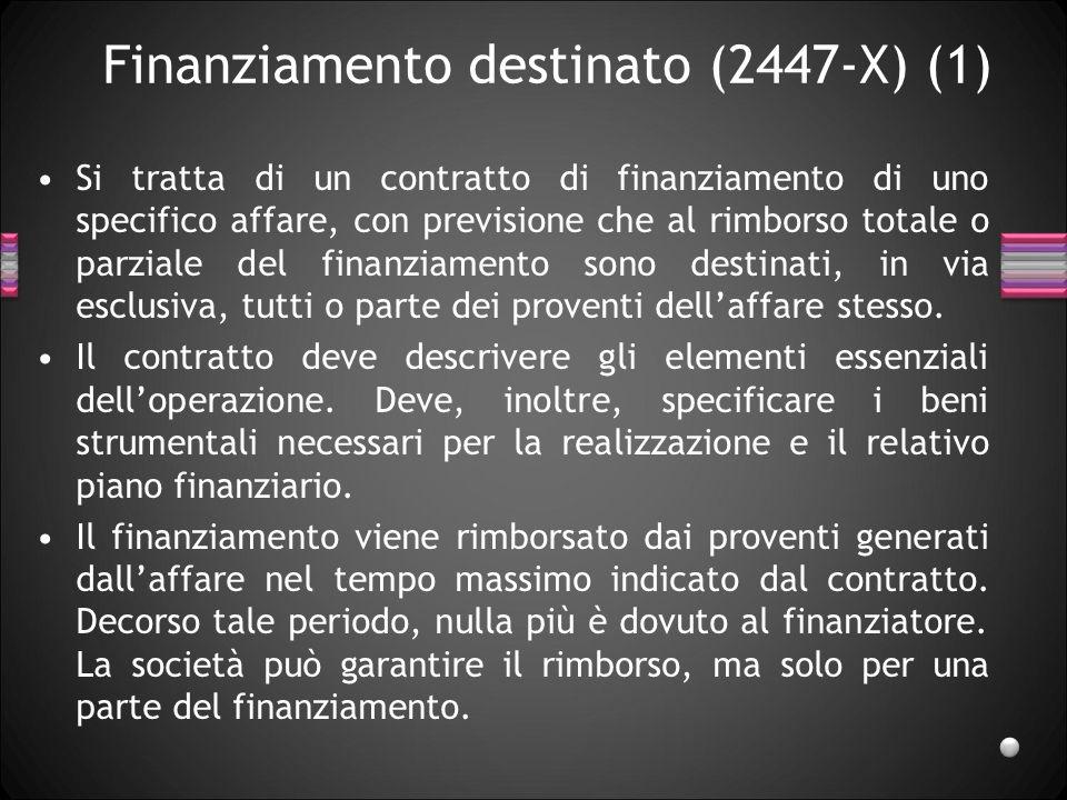 Finanziamento destinato (2447-X) (1)