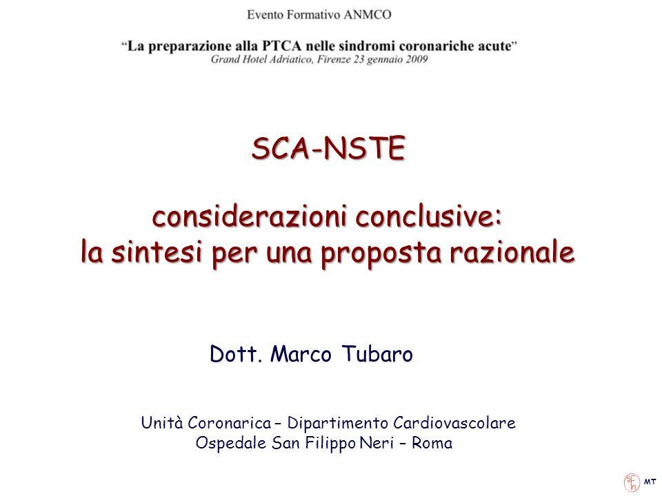 considerazioni conclusive: la sintesi per una proposta razionale
