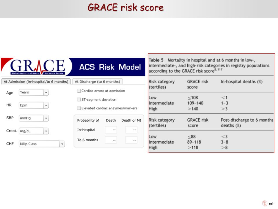 GRACE risk score mt