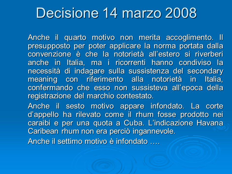 Decisione 14 marzo 2008